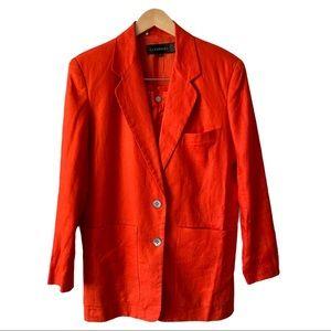 Vintage Linen 2 Piece Shorts 4 and Blazer Suit XS